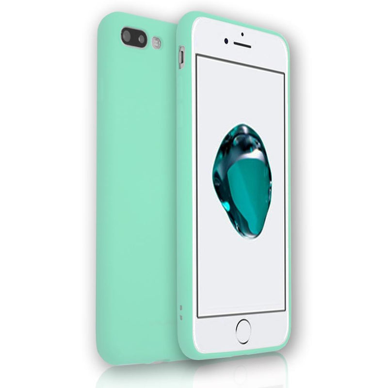 Apple iPhone 8 Plus - Soft Touch Silicone Rear Surround Case - Teal