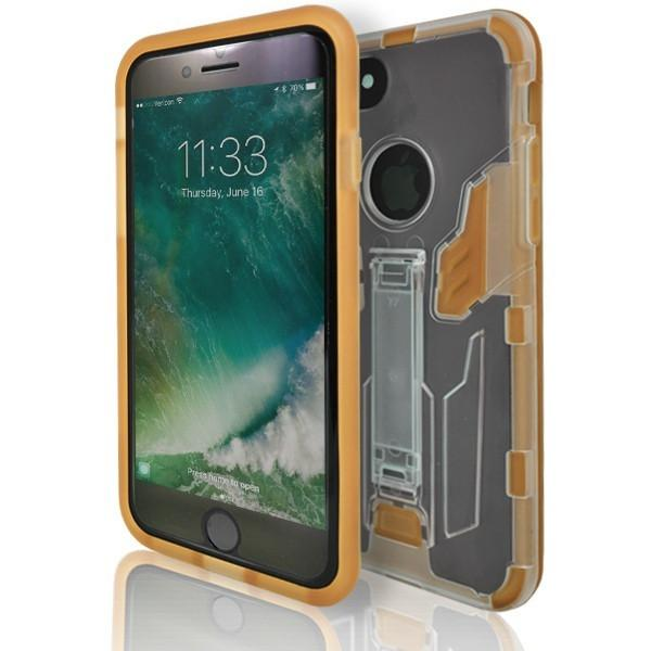 iPhone 7 Plus- Flick Rear Stand Silicone Case - Orange