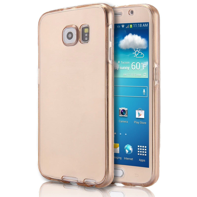 Samsung Galaxy A8 Case - Front And Back Full Silicone Protective Gold