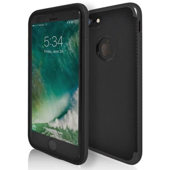 iPhone 7 Plus- Super Slim Protective Case With Hole For Apple Logo - Black