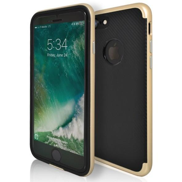 iPhone 7 Plus- Super Slim Protective Case With Hole For Apple Logo - Gold