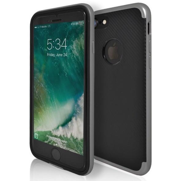 iPhone 7 Case- Super Slim Protective With Hole For Apple Logo Grey