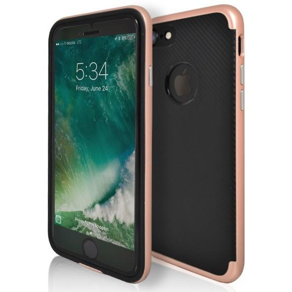 iPhone 7 Plus- Super Slim Protective Case With Hole For Apple Logo - Rose Gold