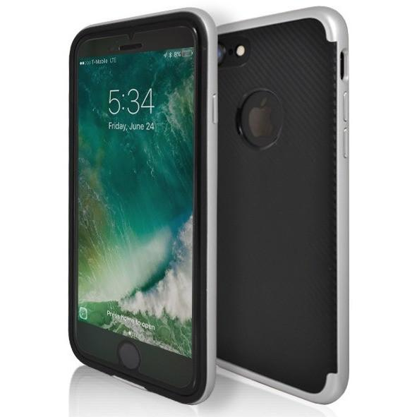 iPhone 7 Plus- Super Slim Protective Case With Hole For Apple Logo - Silver
