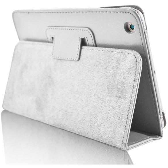 Apple iPad Air 2 - Flip Stand Protective Leather Case - White