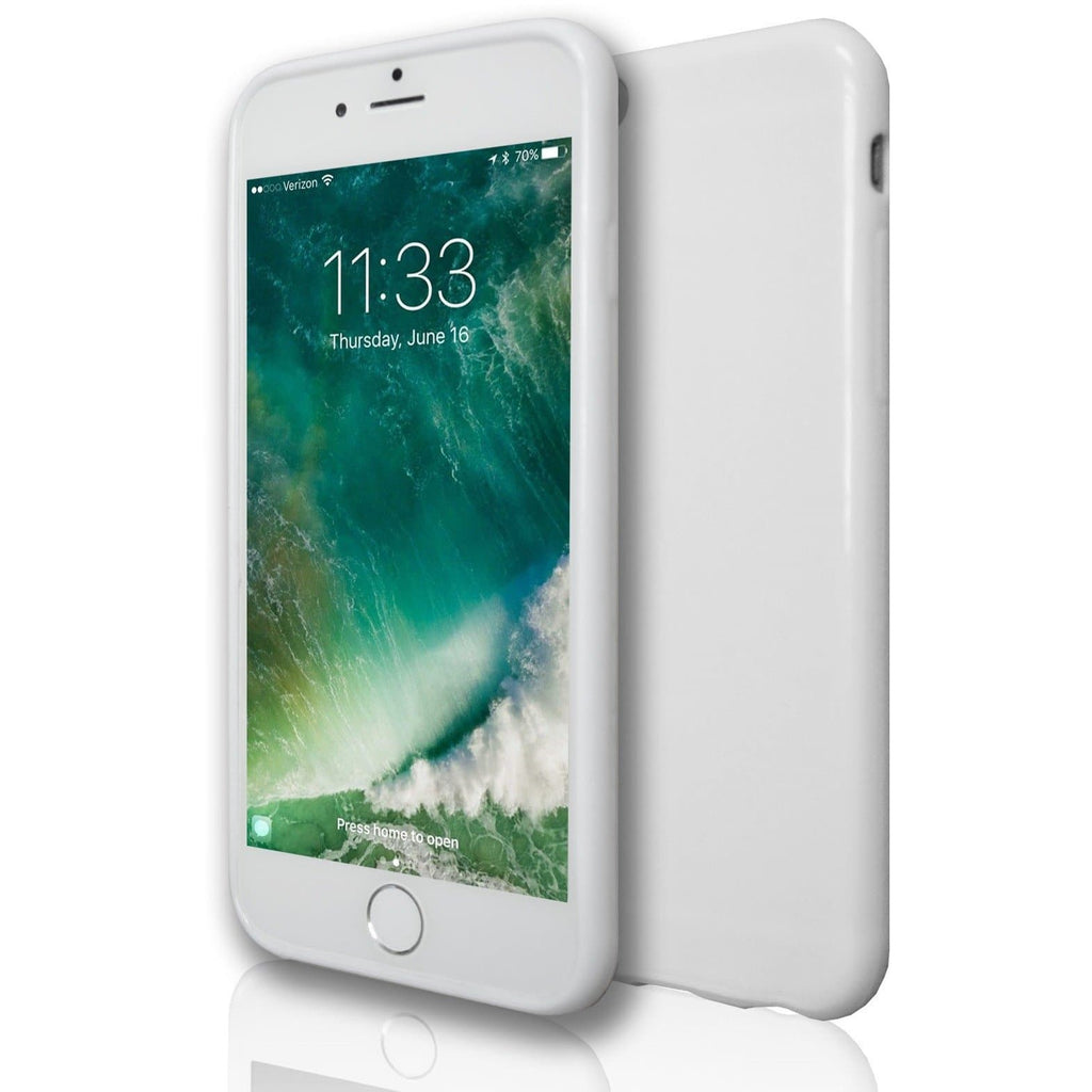 iPhone 6 / 6S-  Plain Soft Gel Silicone Case- White