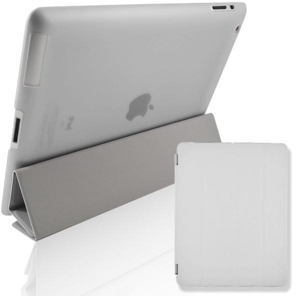 White Leather Magnetic Full Smart Cover + Hard Back Case Stand With Sleep Wake For Apple iPad Air