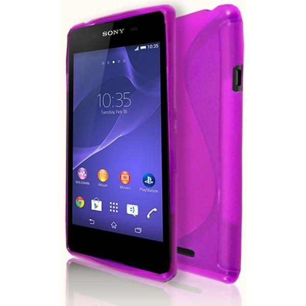Sony Xperia E3 - Pink S Line Gel Silicone Case