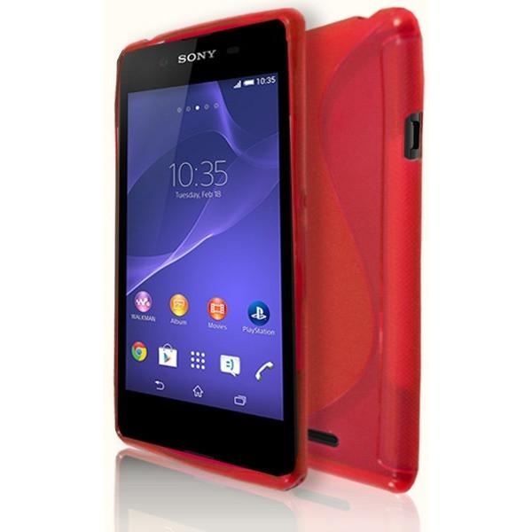 Sony Xperia E3 - Red S Line Gel Silicone Case