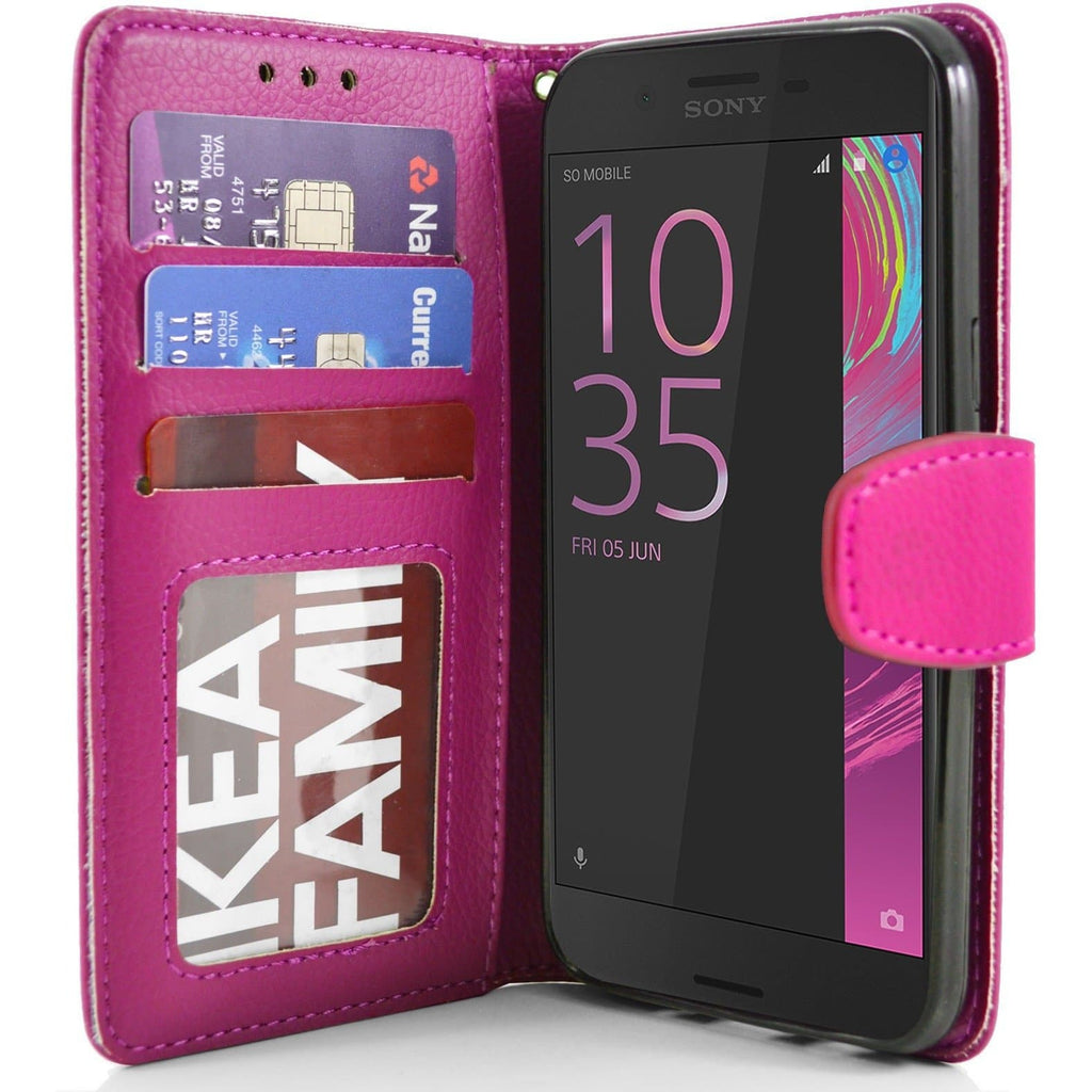 Sony Xperia X Performance PU Leather Wallet Case - Pink