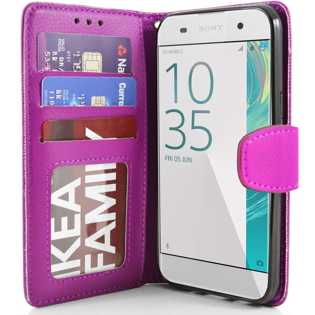 Sony Xperia XA PU Leather Wallet Case - Pink