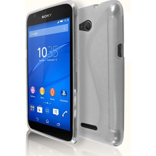 Sony Xperia E4G - Clear S Line Gel Silicone Case