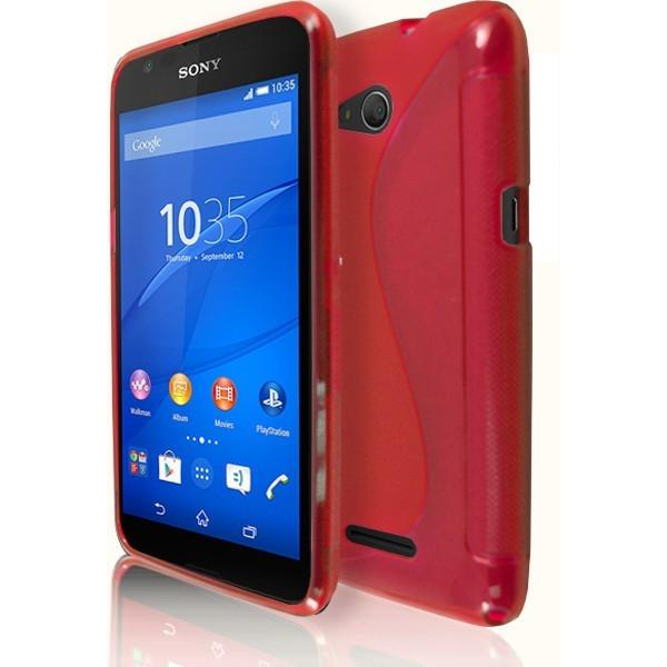 Sony Xperia E4G - Red S Line Gel Silicone Case