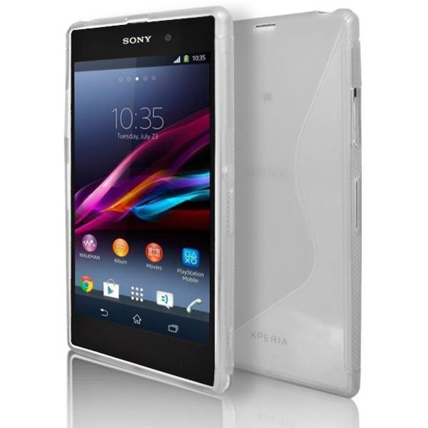 Sony Xperia Z1 - White S Line Gel Silicone Rubber Case Cover