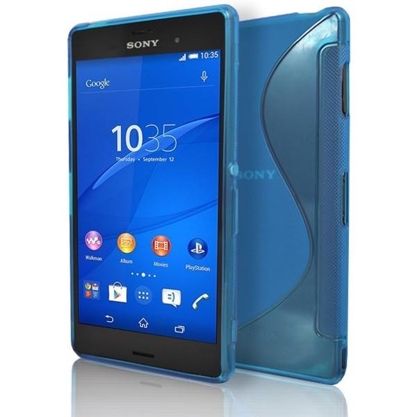 Sony Xperia Z3 - Blue S Line Gel Silicone Rubber Case Cover