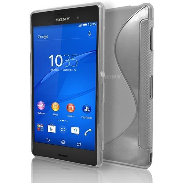 Sony Xperia Z3 - Clear S Line Gel Silicone Rubber Case Cover