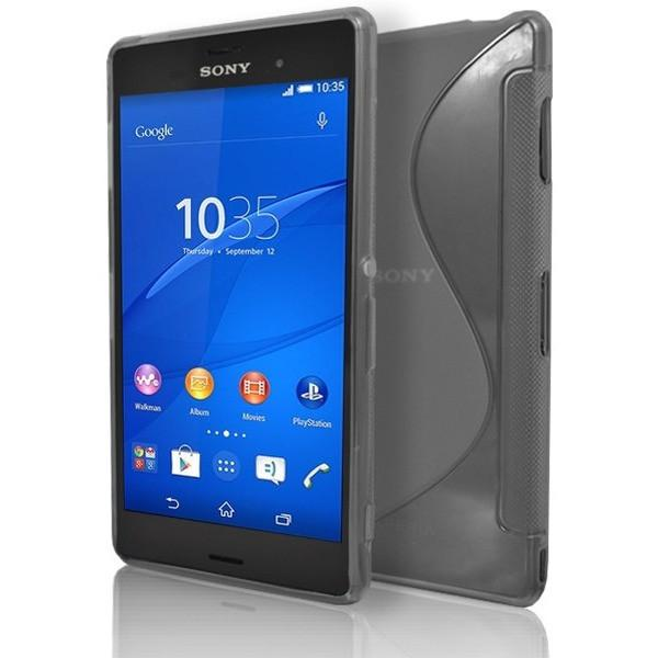 Sony Xperia Z3 - Smoked S Line Gel Silicone Rubber Case Cover
