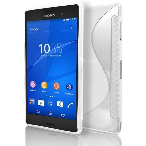 Sony Xperia Z3 - White S Line Gel Silicone Rubber Case Cover