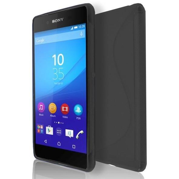 Sony Xperia Z4 - Black S Line Gel Silicone Rubber Case Cover