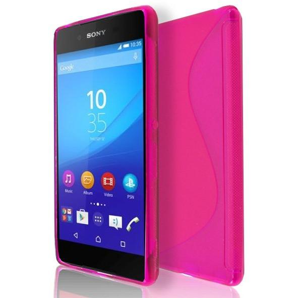 Sony Xperia Z4 - Pink S Line Gel Silicone Rubber Case Cover