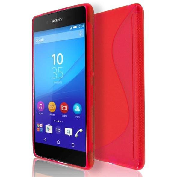 Sony Xperia Z4 - Red S Line Gel Silicone Rubber Case Cover