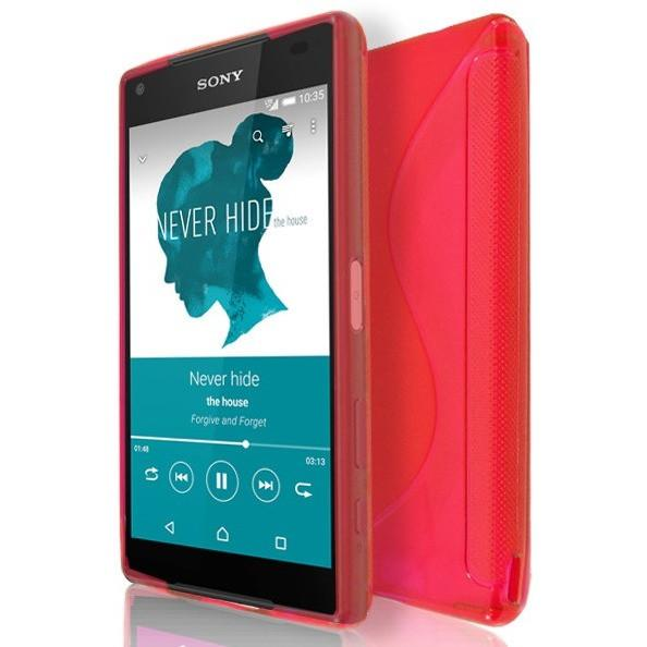 Sony Xperia Z5 Compact - Red S Line Gel Silicone Rubber Case Cover