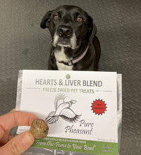 Load image into Gallery viewer, Freeze-Dried Pheasant Hearts & Liver for Dogs or Cats, 2 oz