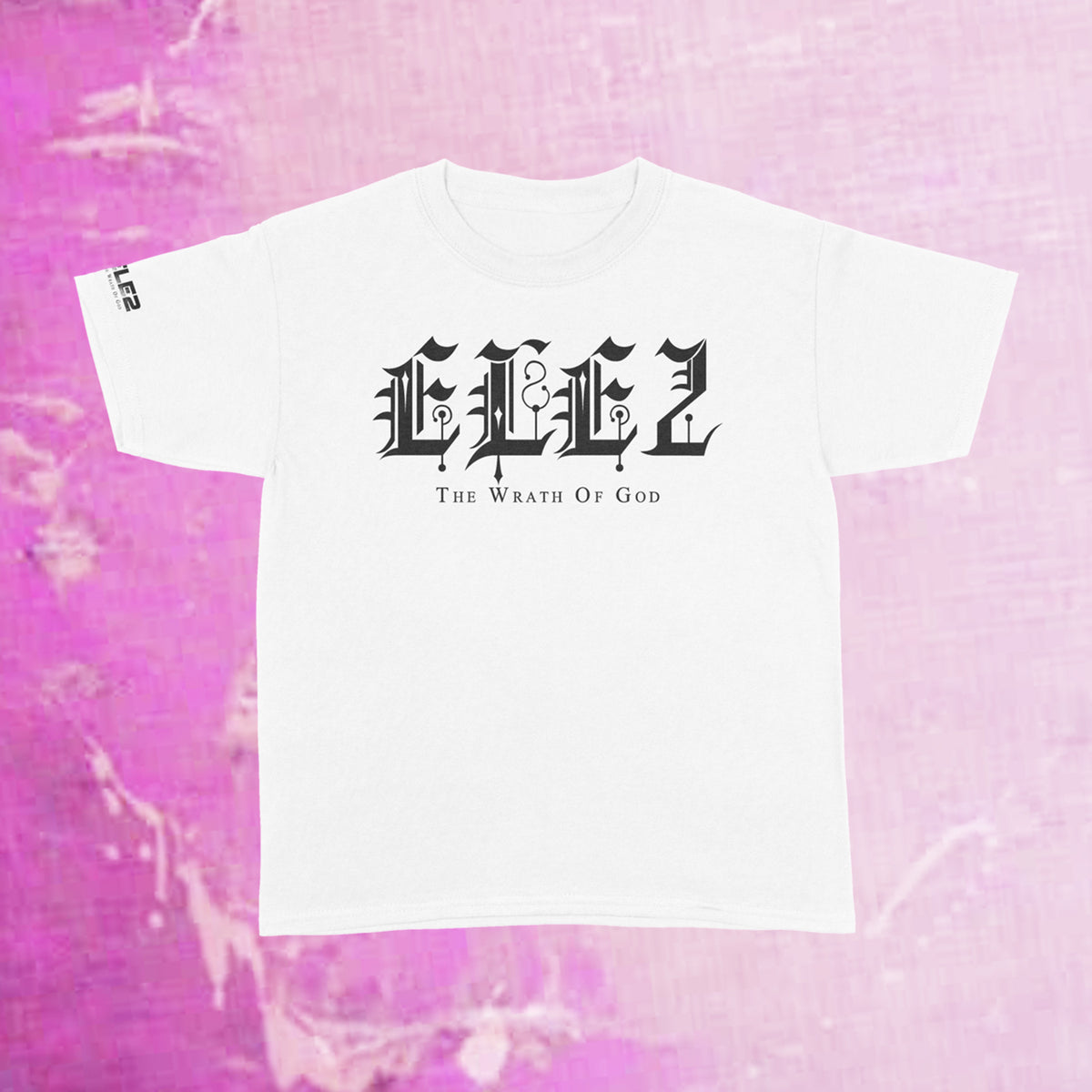 ELE2 Old English - White T-Shirt