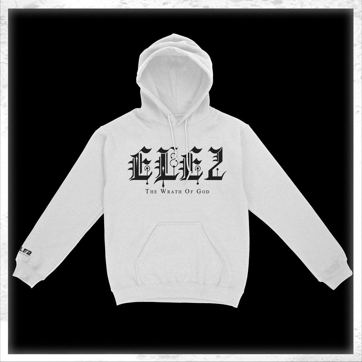 ELE2 Old English - White Hoodie