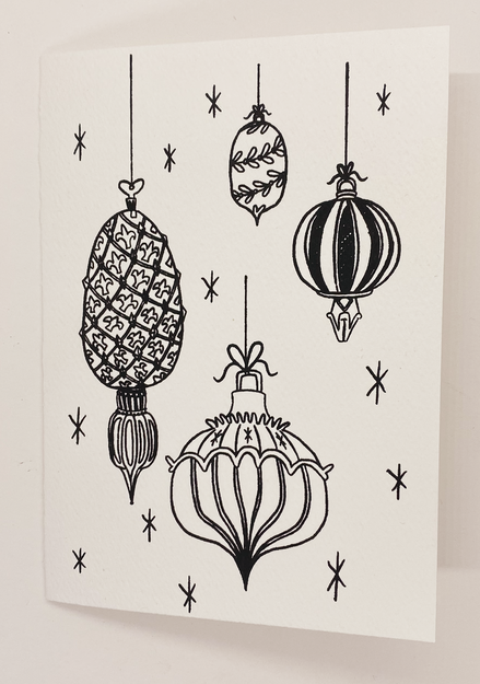 Christmas Coloring Cards - Set Of 4