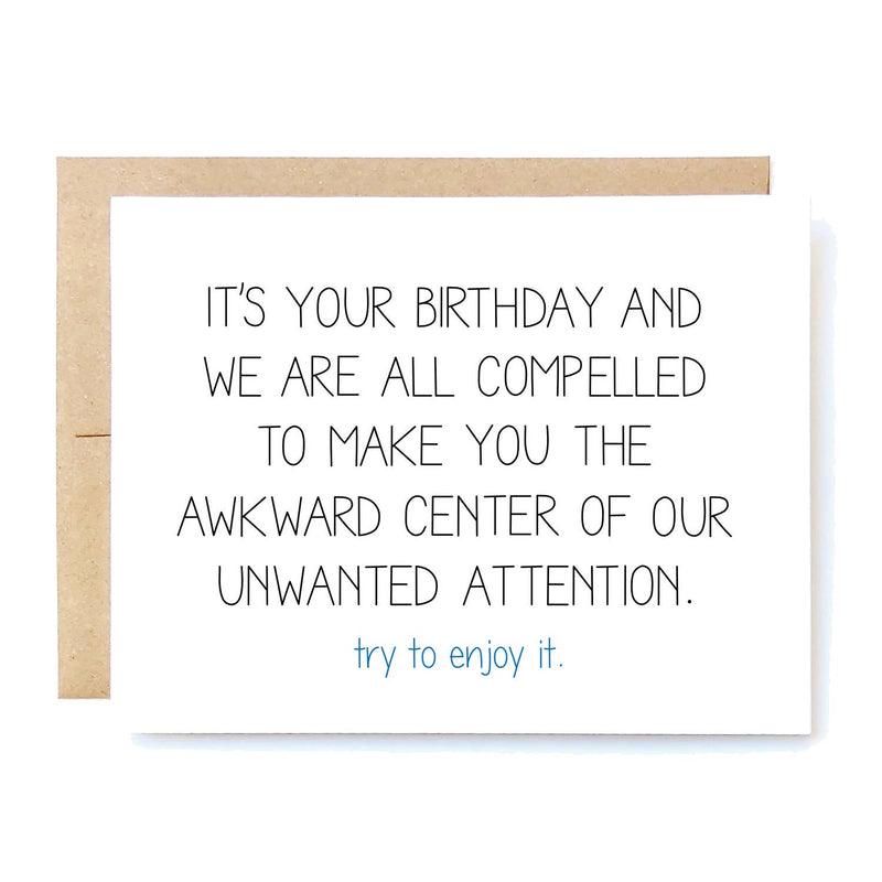 Unwanted Attention Card