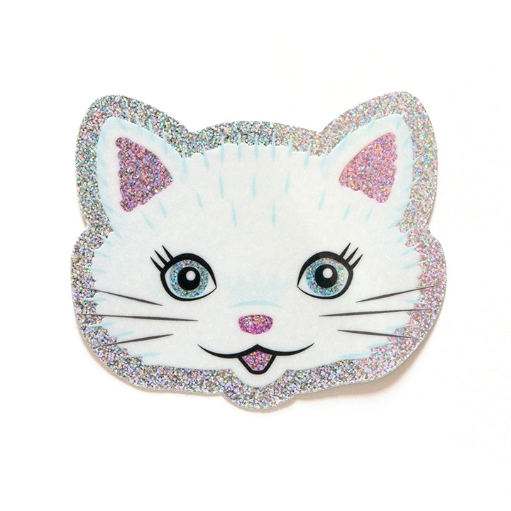 Glitter Cat Sticker