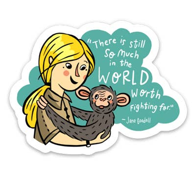 Jane Goodall Sticker