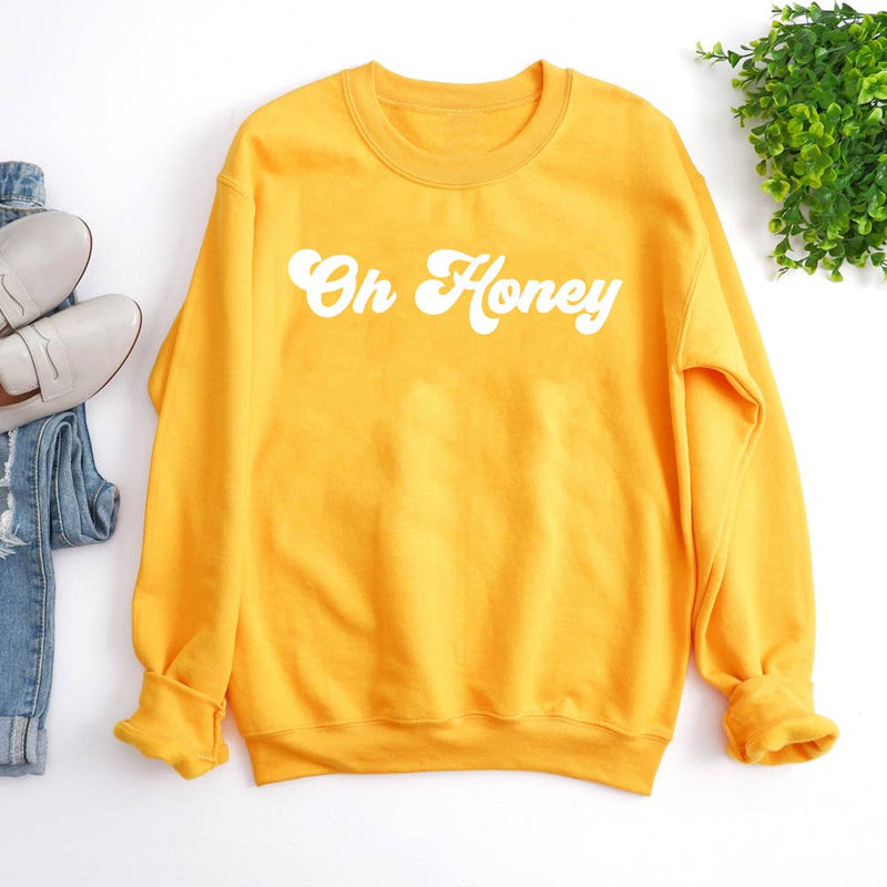 Oh Honey! Crewneck Pullover