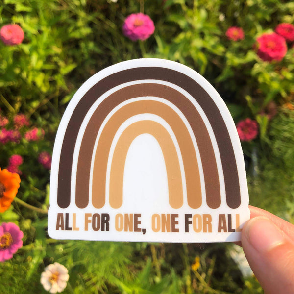 All For One & One For All Sticker