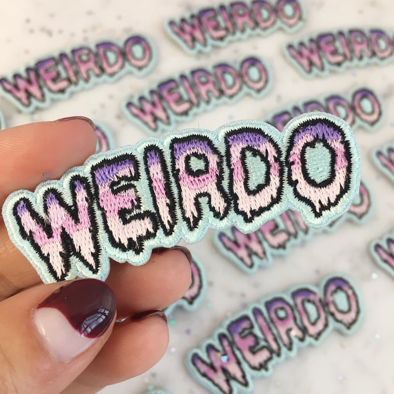 Weirdo Ombre Drippy Letters Iron On Patch