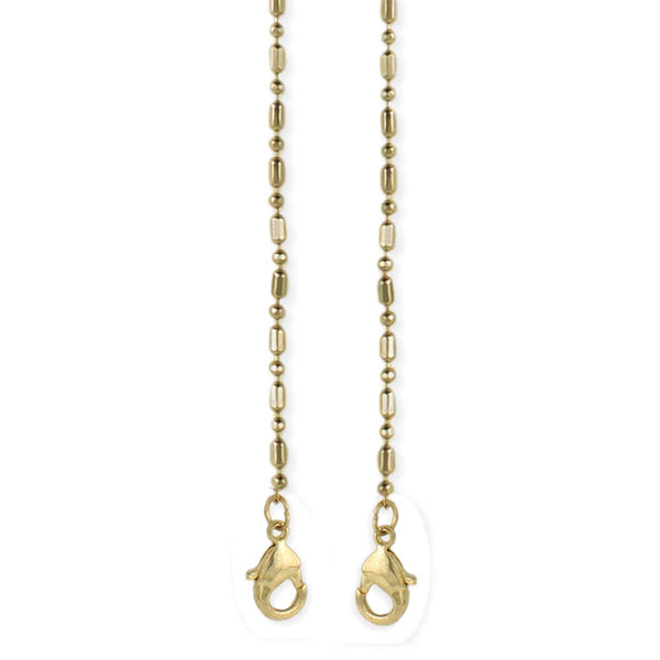 Gold Bar & Ball Mask Chain