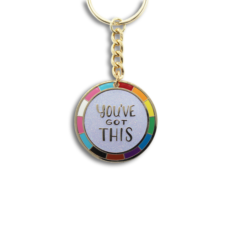 You've Got This Enamel Keychain