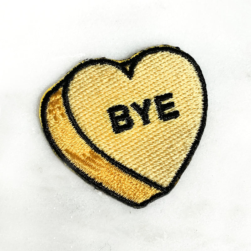 Yellow Candy Heart - Bye