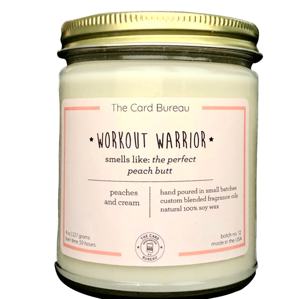 Workout Warrior Candle