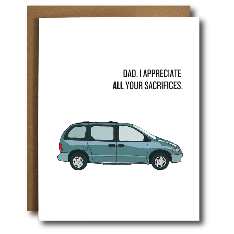Funny Father's Day Minivan Card