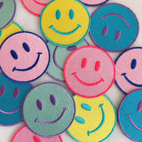 Smiley Face Patch - Yellow