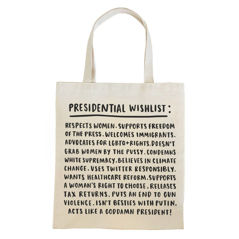 Presidential Wishlist Tote Bag