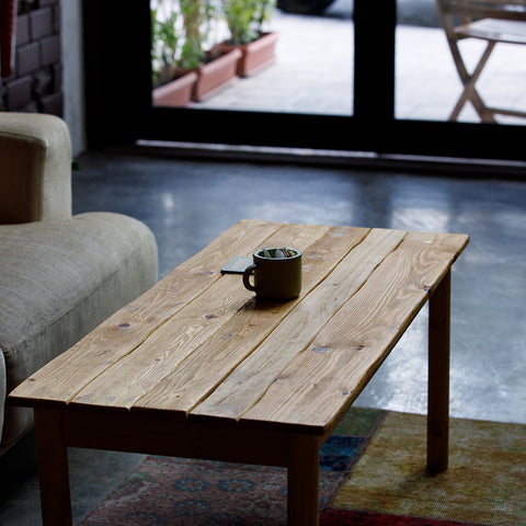 coffee table side