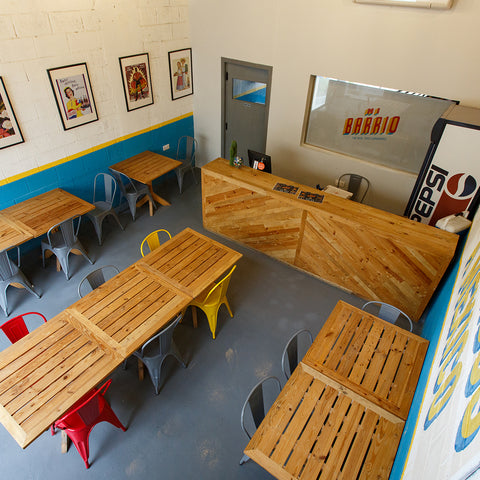 counter and tables for resturaunt