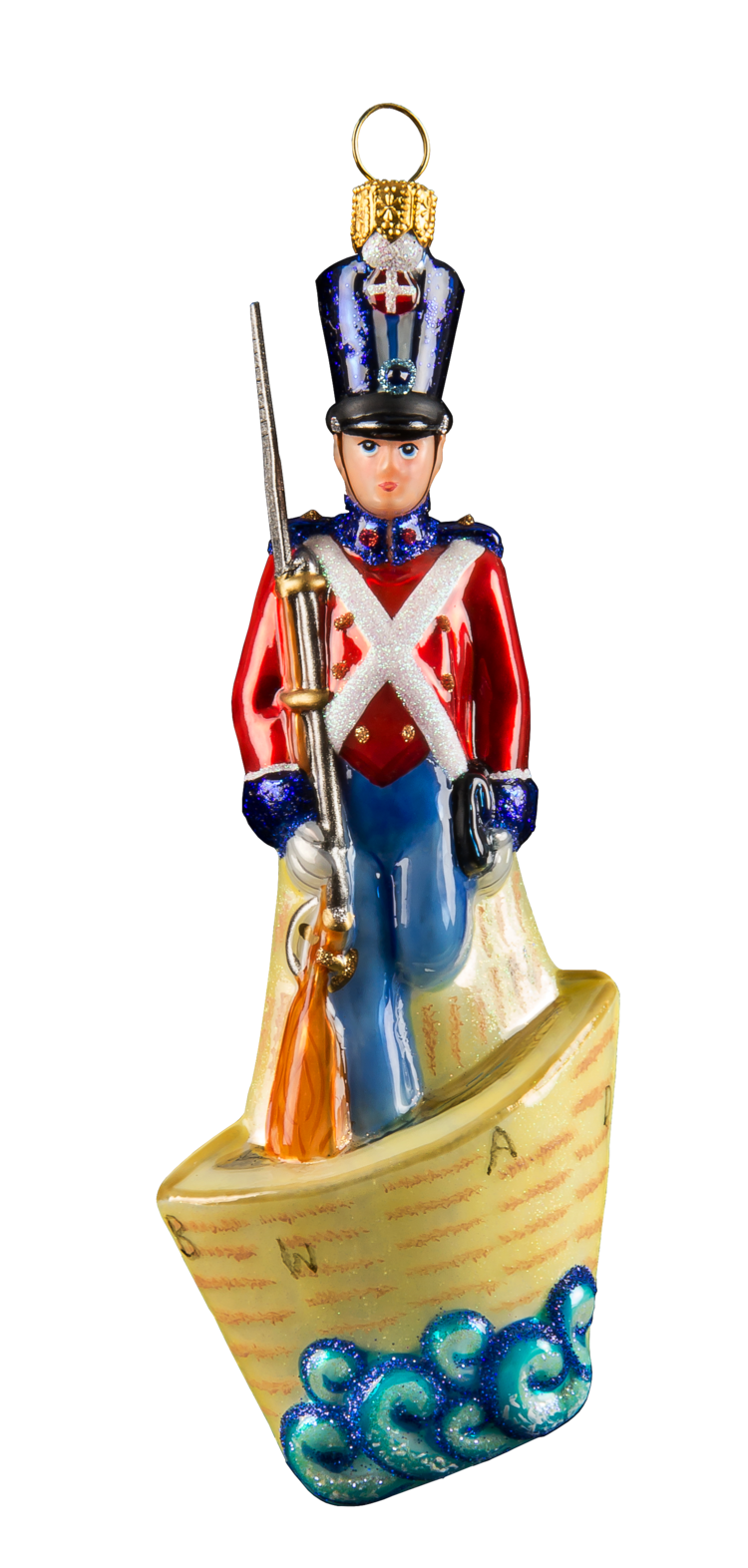 The Steadfast Tin Soldier in a Boat - Mysteria Christmas Ornaments