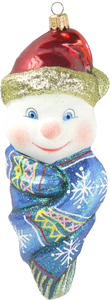 Snowman in Scarf - Mysteria Christmas Ornaments
