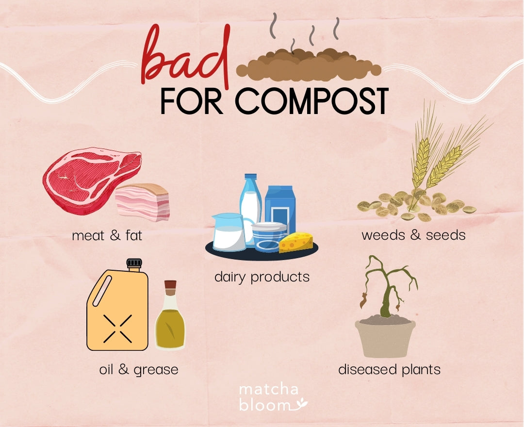 what's bad for compost
