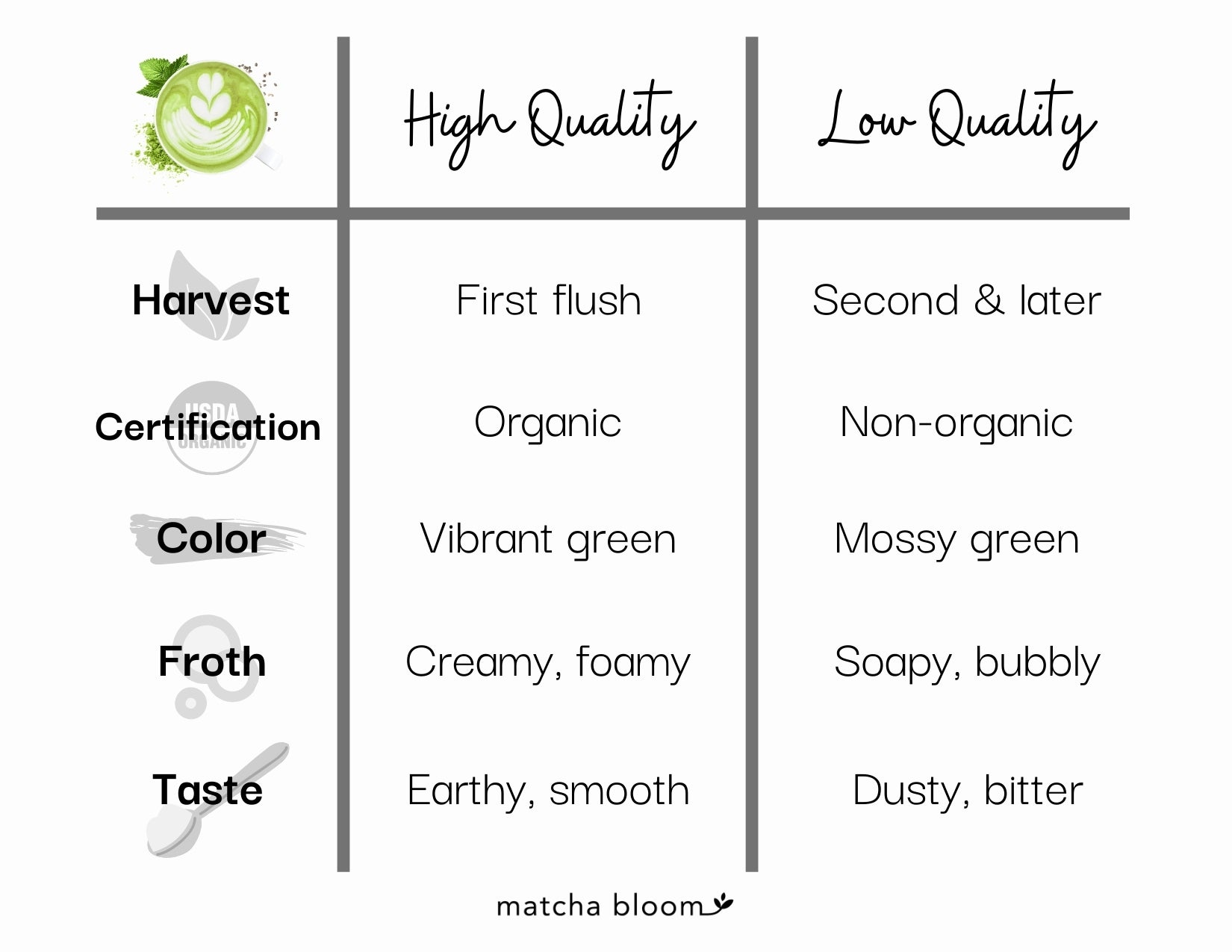 what to look for when selecting a matcha powder