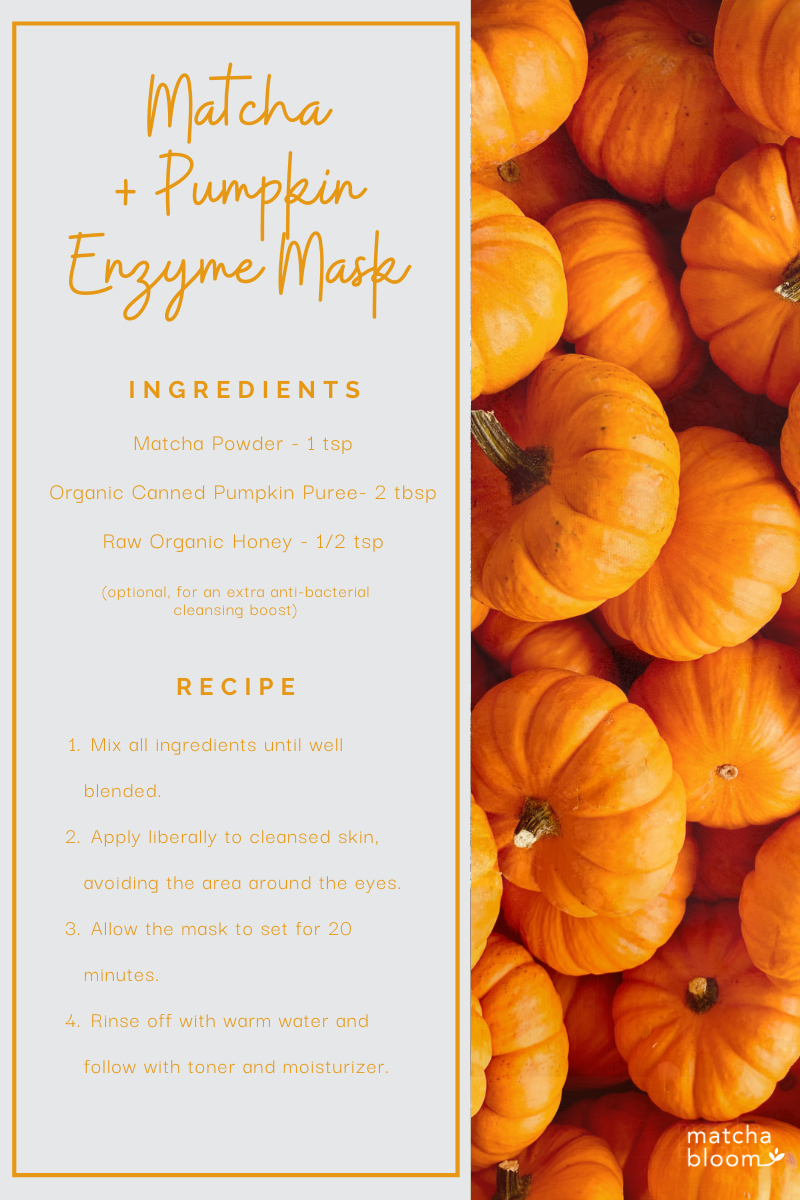 homemade matcha mask recipe with Pumpkin Enzyme